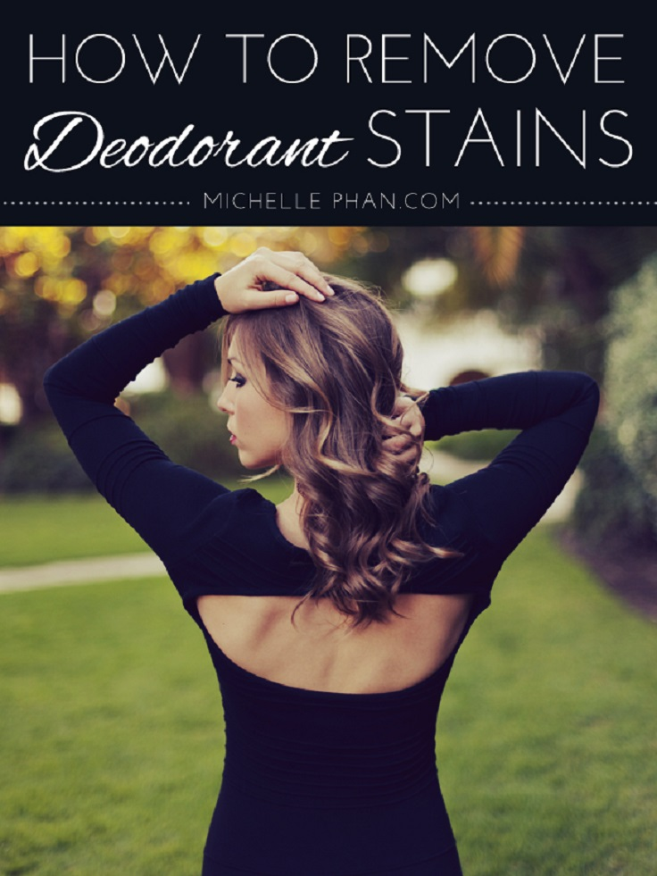 Top 10 life hacks every woman have to know top inspired for How to get deoderant stains out of shirts