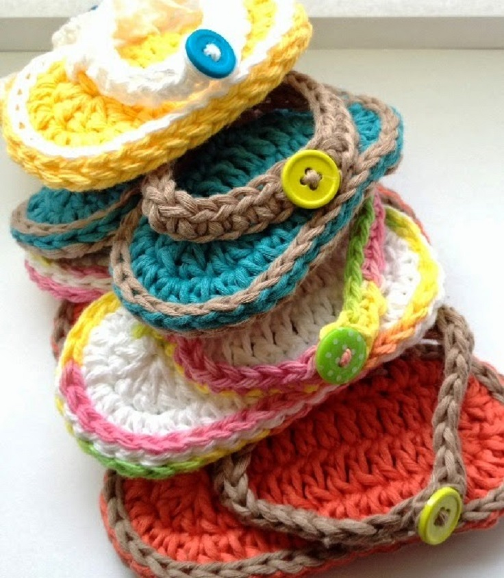 TOP 10 Free Crochet Patterns for Adorable Flip Flops to ...