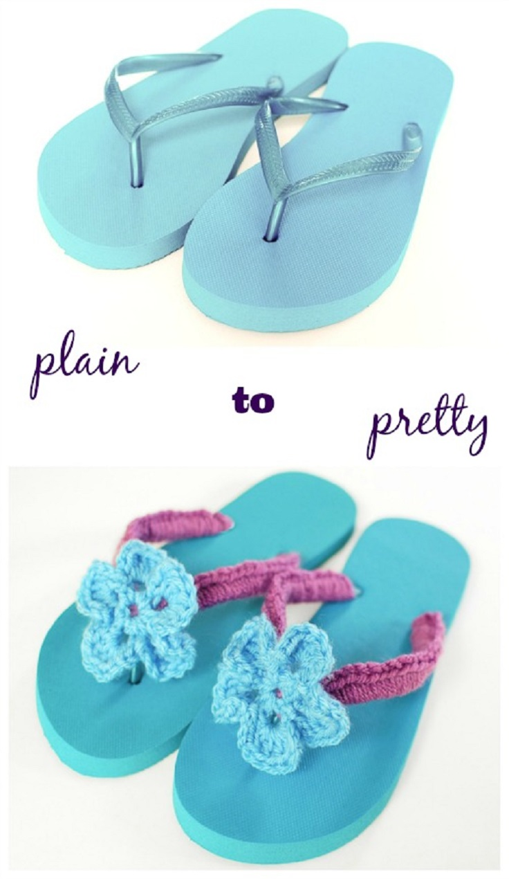 Crochet-Flip-Flops-Tutorial-with-Flower-Pattern