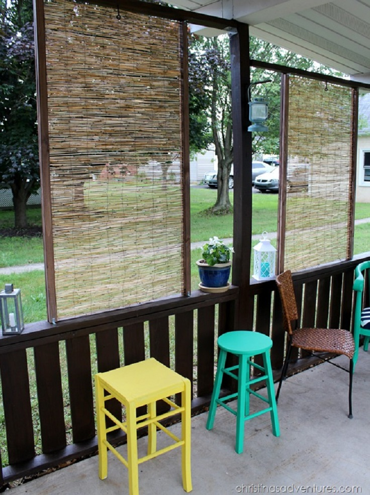 10 patio privacy screen ideas diy privacy screen projects for Cheap patio privacy ideas