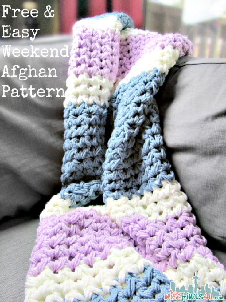 Crochet Patterns For Afghan : TOP 10 Free Easy Crochet Patterns for Beginners - Top Inspired