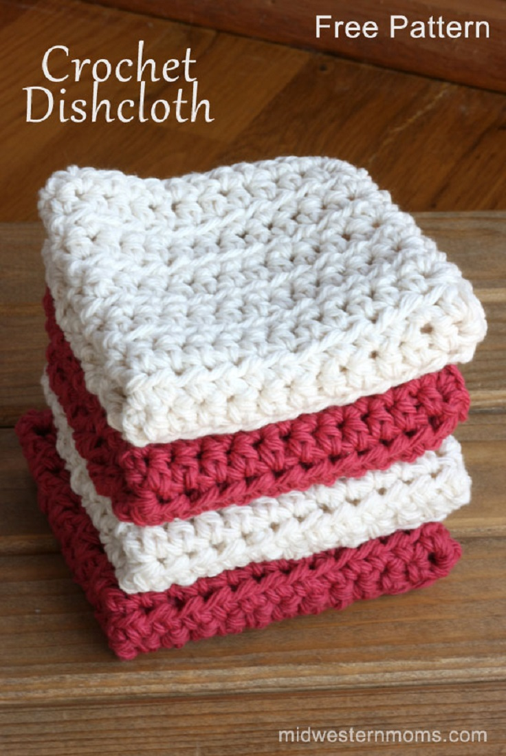 Crocheting Dishcloths For Beginners : TOP 10 Free Easy Crochet Patterns for Beginners - Top Inspired