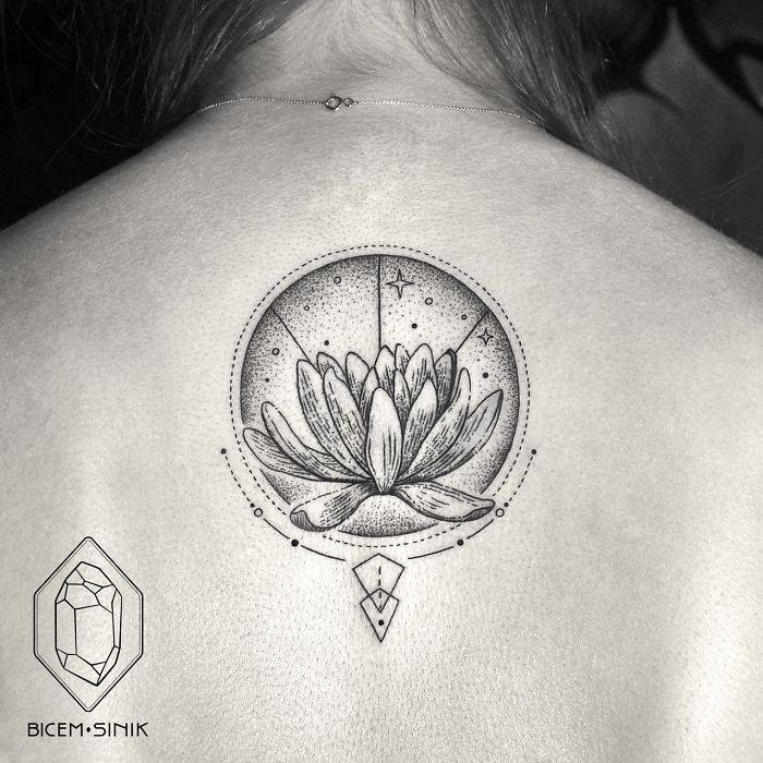 Geometric-tattoo-lotus