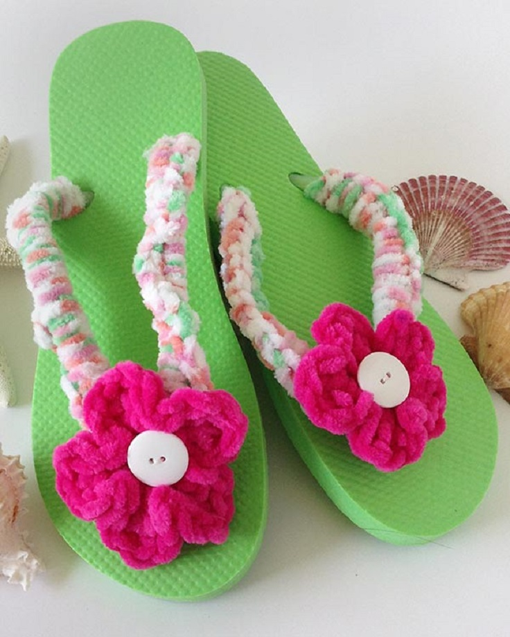 Crochet Patterns Using Flip Flops : TOP 10 Free Crochet Patterns for Adorable Flip Flops to ...