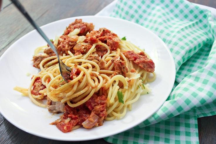 Pasta-with-Tuna-and-Tomato-Cream-Sauce