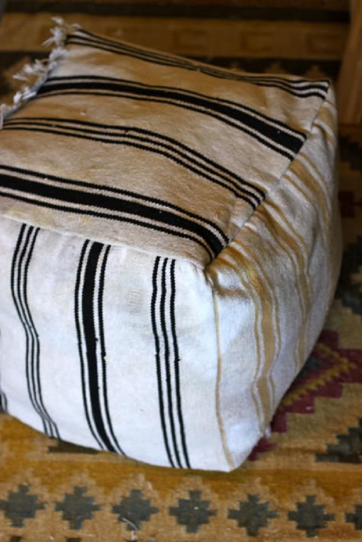 Recycled-Rug-Ottoman