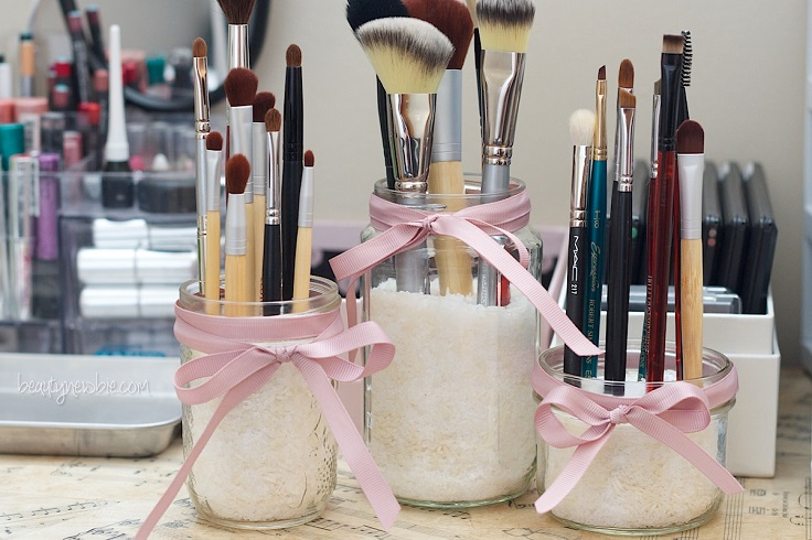 makeup brush holders top 10 diy mason jar gifts