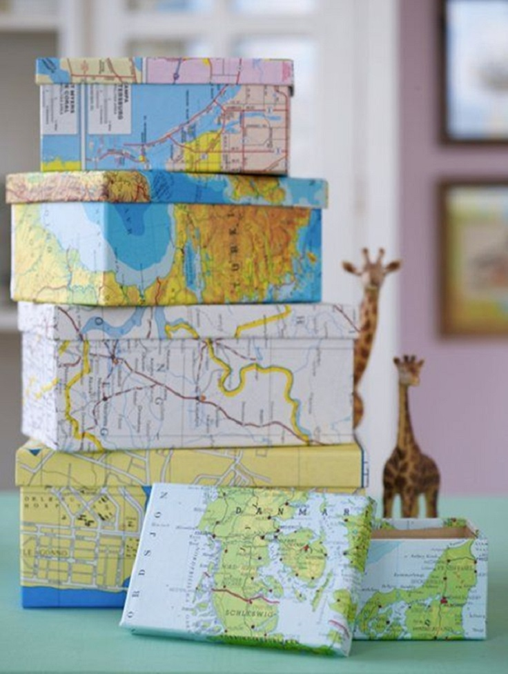 map-covered-box