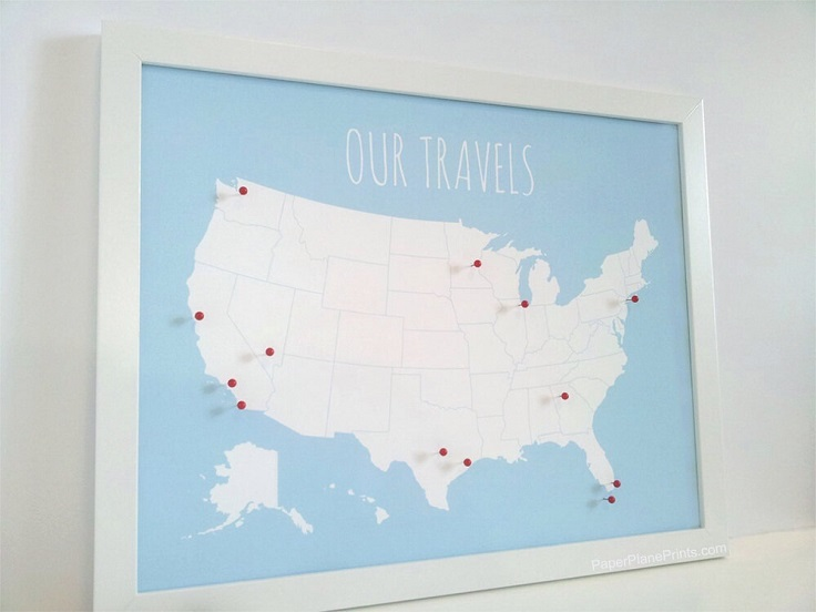 Top 10 DIY Map Gifts For Travel Lovers