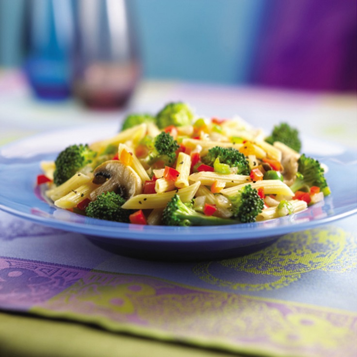 pasta-with-broccoli-mushrooms-and-peas