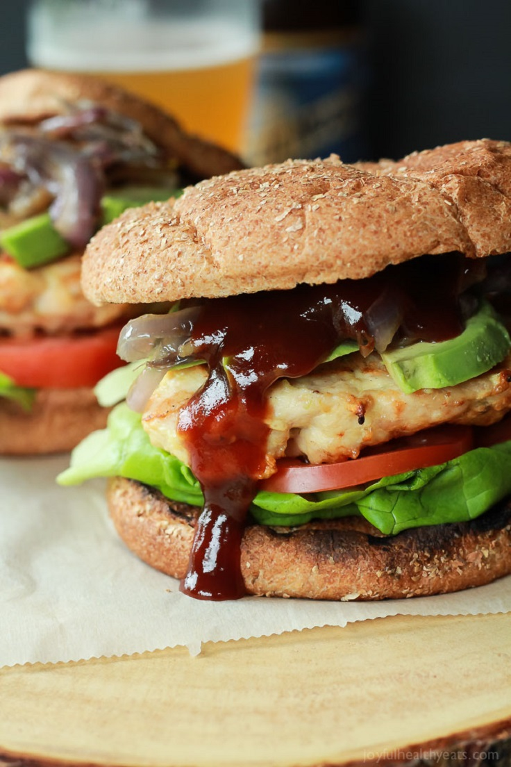 Chicken-Burgers-with-Caramelized-Onions