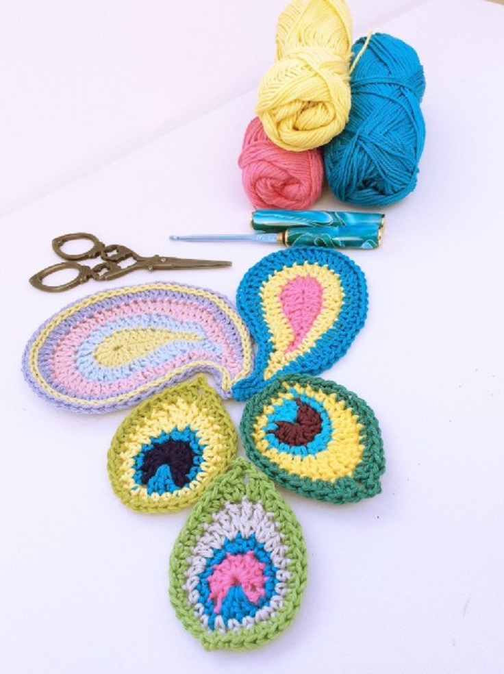 Free Crochet Patterns For Small Motifs : TOP 10 Fun & Free Crocheted Motif Patterns - Top Inspired