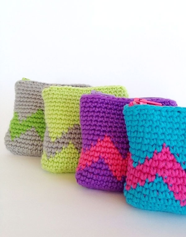 Crochet Bag Making : TOP 10 Free Patterns for Crocheted Coin Purses - Top Inspired