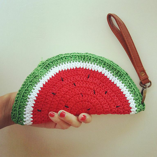 Watermelon-crochet-coin-purse