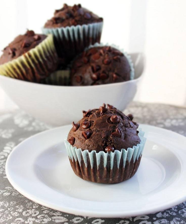 Chocolate-Cherry-Muffins