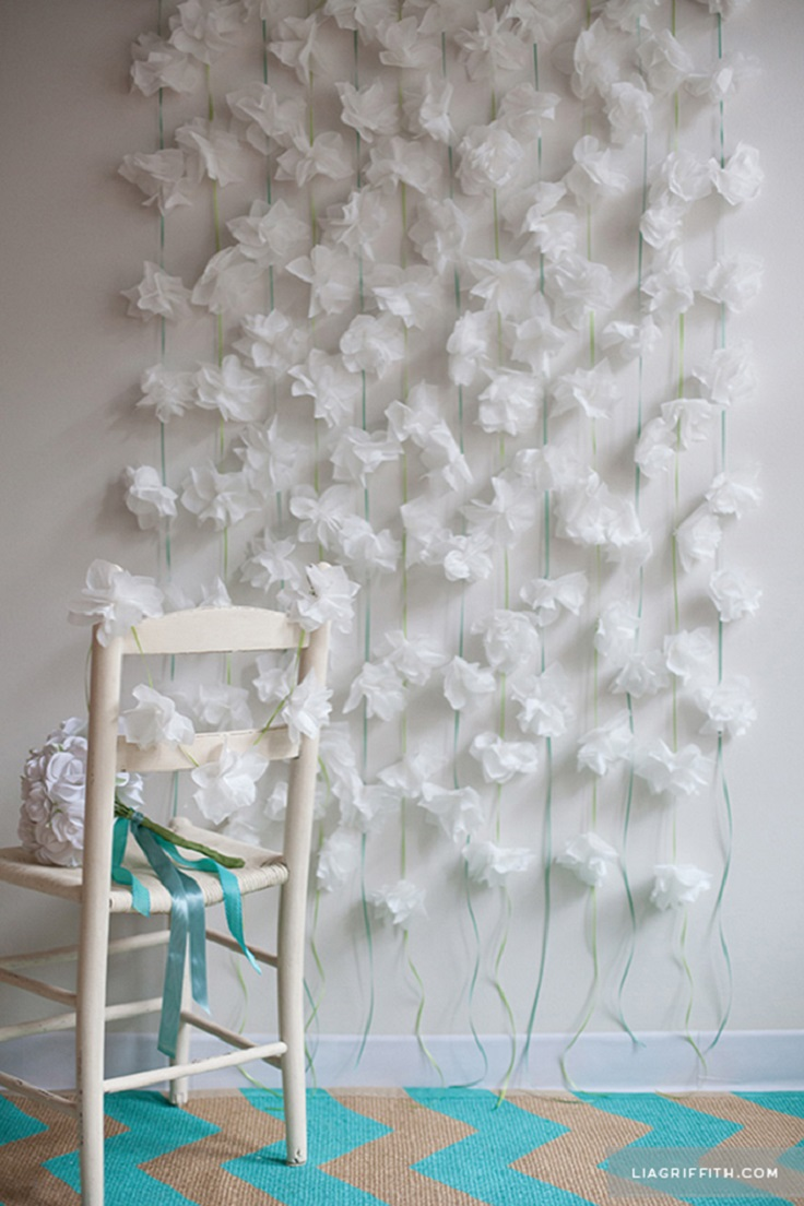 top 10 diy floral garland and backdrop ideas for your home top inspired. Black Bedroom Furniture Sets. Home Design Ideas