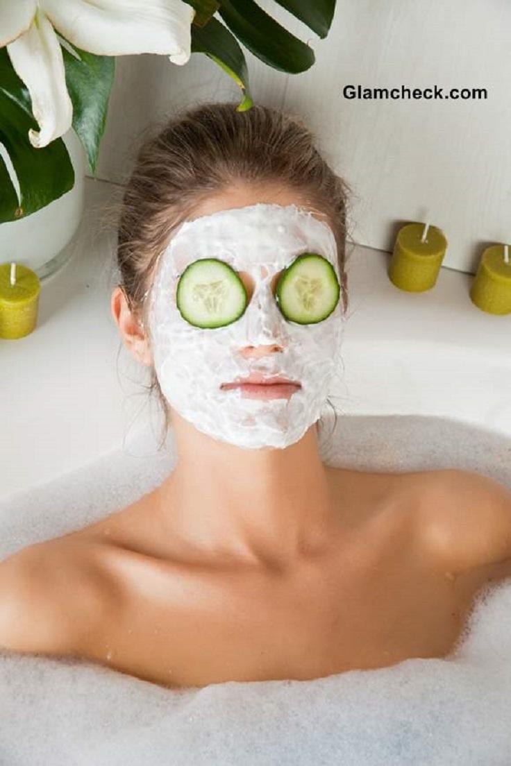 Cucumber face mask peel
