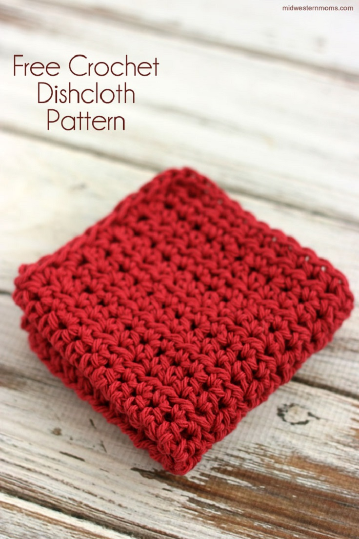 Crocheting Dishcloths For Beginners : Dishcloth-Crochet-Pattern-for-Beginners