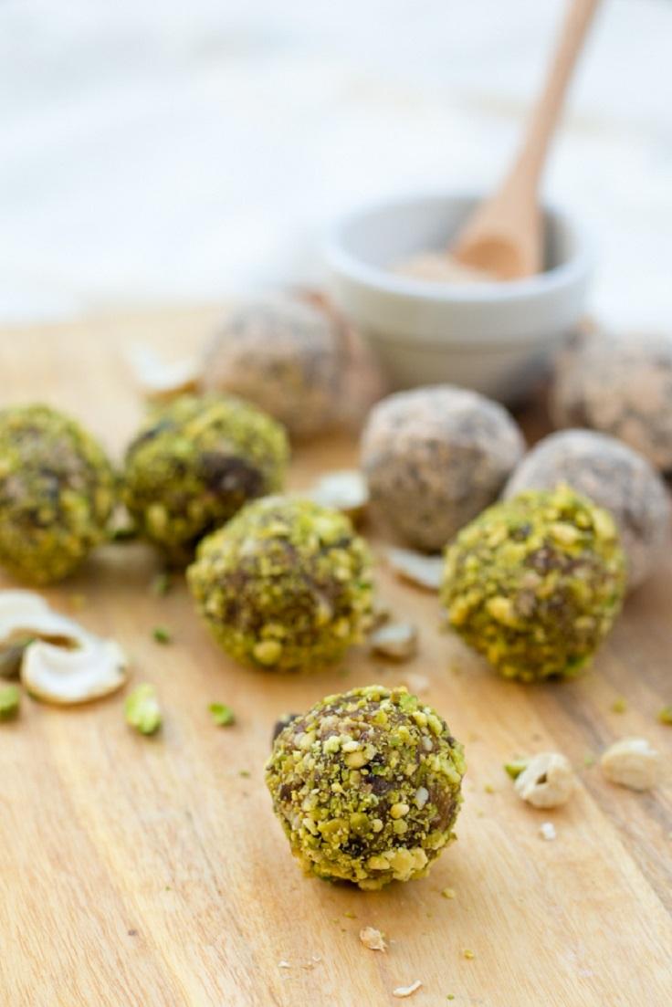 Pistachio-Lemon-Truffles