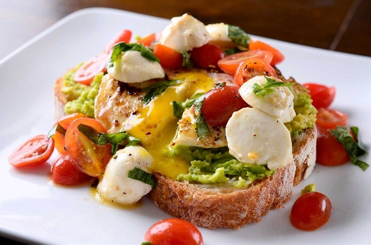 Caprese Avocado Breakfast Toast