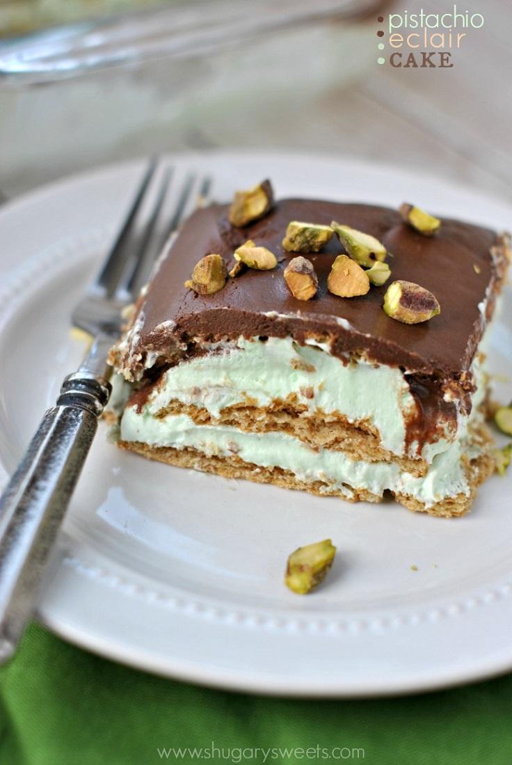 pistachio-eclair-cake