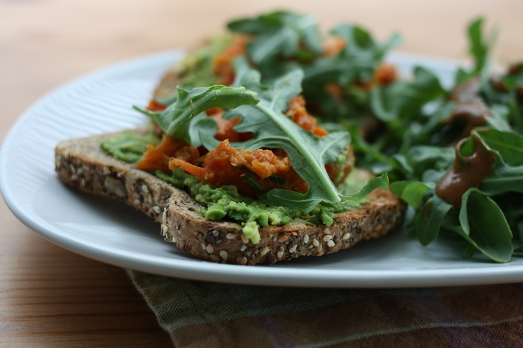 sweet-potatoes-and-chives-on-avocado-toast