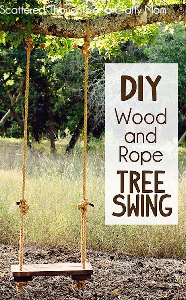 How to build a tree swing - Diy Rustic Tree Swing