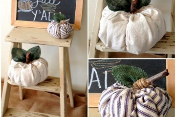 TICKING STRIPE and DROP CLOTH PUMPKINS