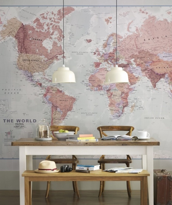 topIdeas-Wall-Decor-Design-with-World-Map-Wallpaper