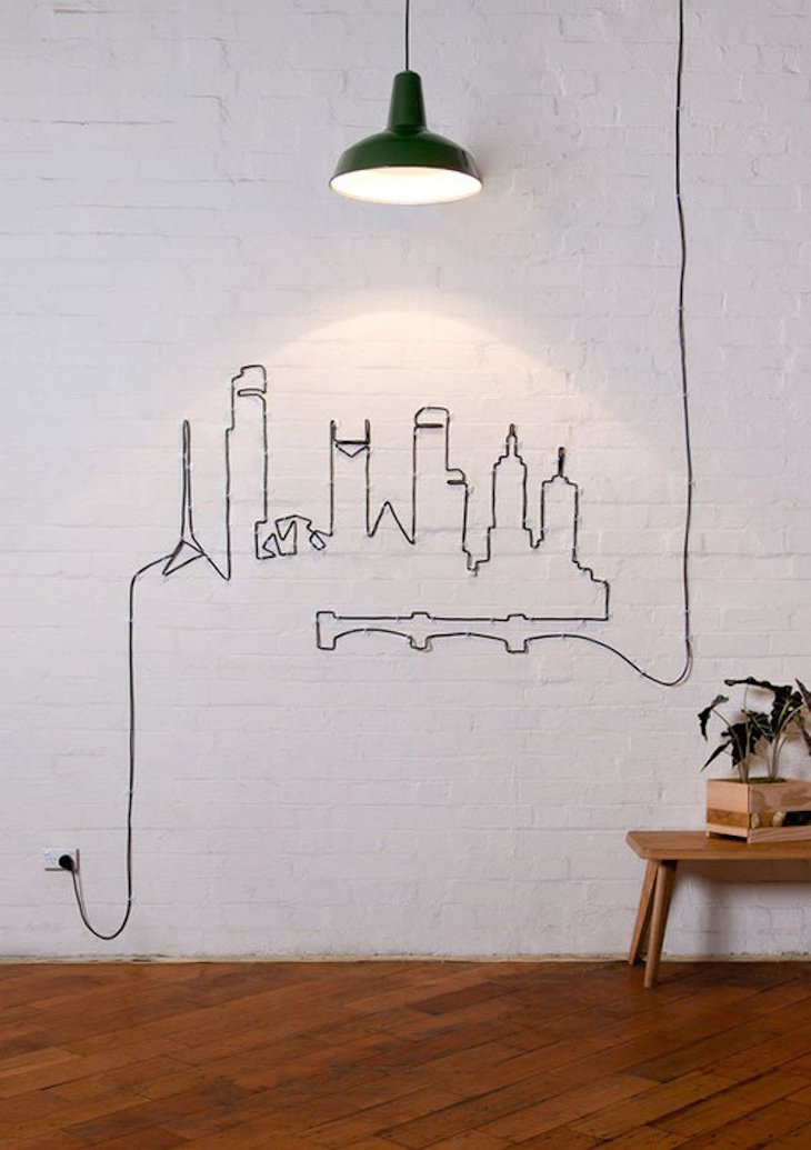topcreative-wall-ideas-with-town-made-from-wires-ideas