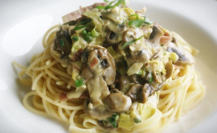 leek-and-mushroom-pasta