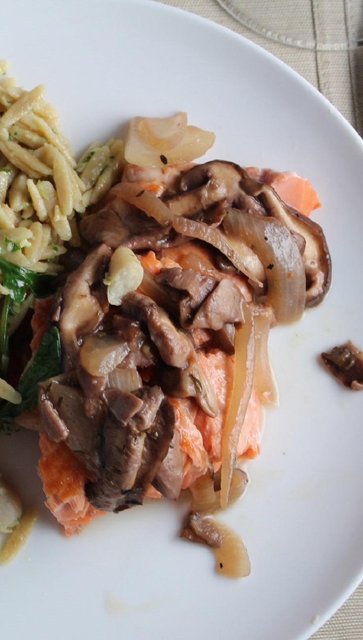 salmon-with-shiitake-mushroom-sauce