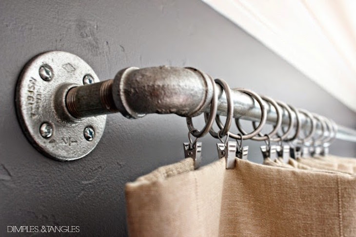 Apartment Furniture Curtain Rods: Two chic apartments with ...