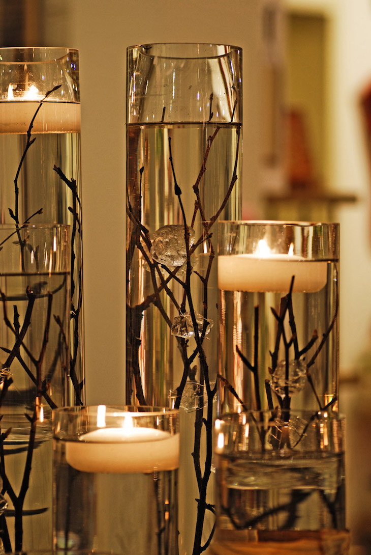Top 10 most beautiful christmas vase arrangements top inspired floating candles and submerged branches reviewsmspy