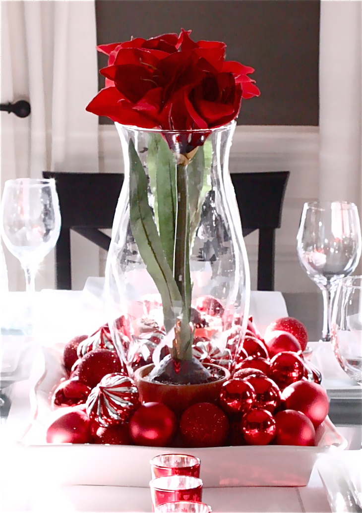 topbeutiful christmas dinner decoration ideas with sparkling red - Christmas Vase Decorations