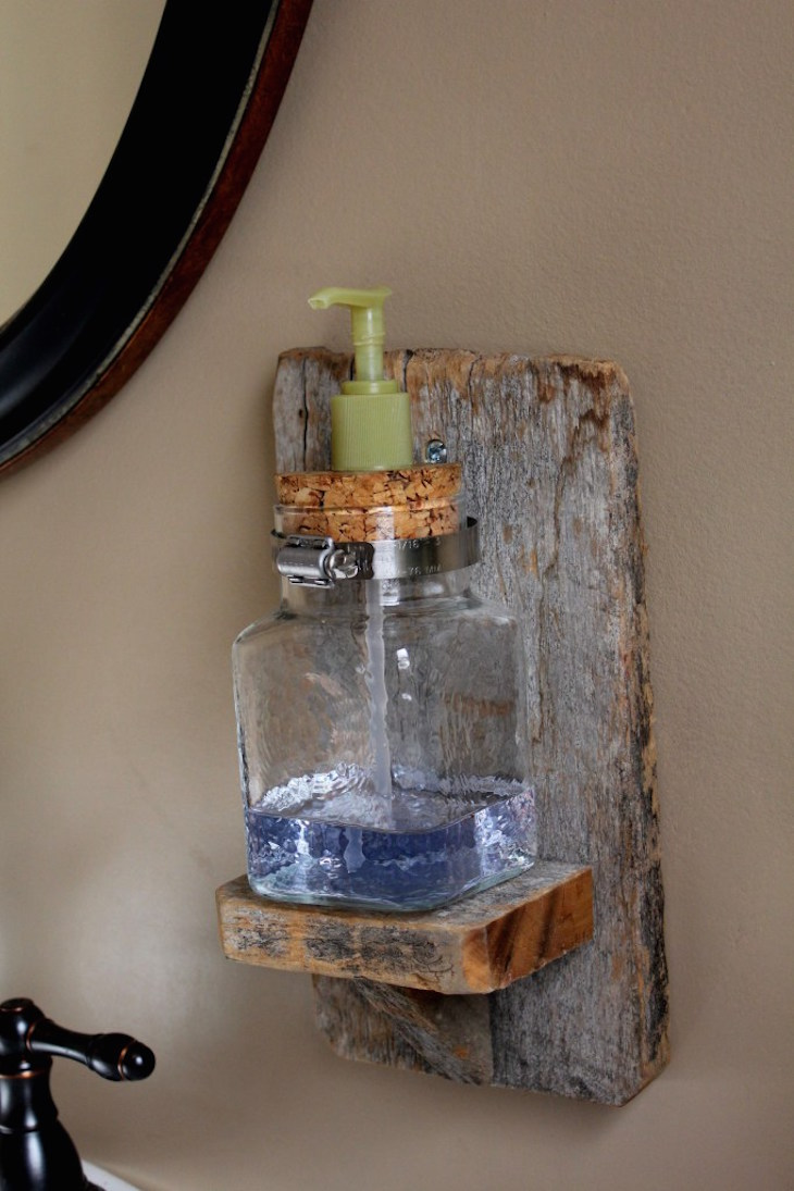 Glass bathroom soap dispenser - Rustic Wall Mounted Soap Dispenser