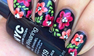 Floral on Black