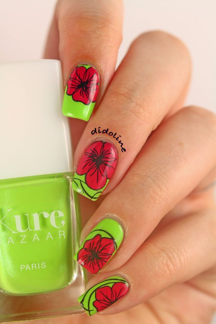 Floral-on-Green
