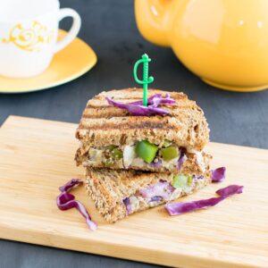 Grilled Cabbage Ricotta Sandwich