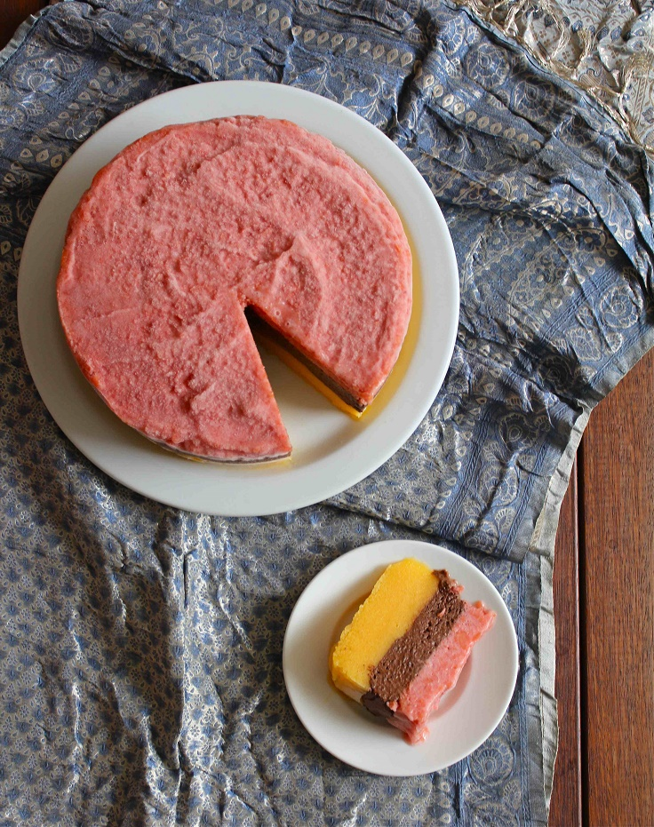 10. Mango, Peach and Chocolate Sorbet Layer Cake
