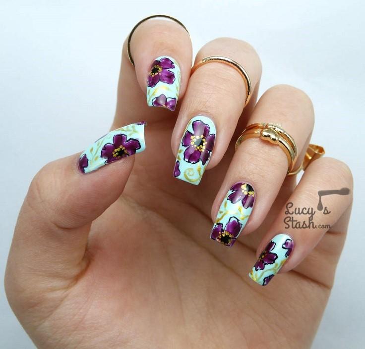 Purple-Floral