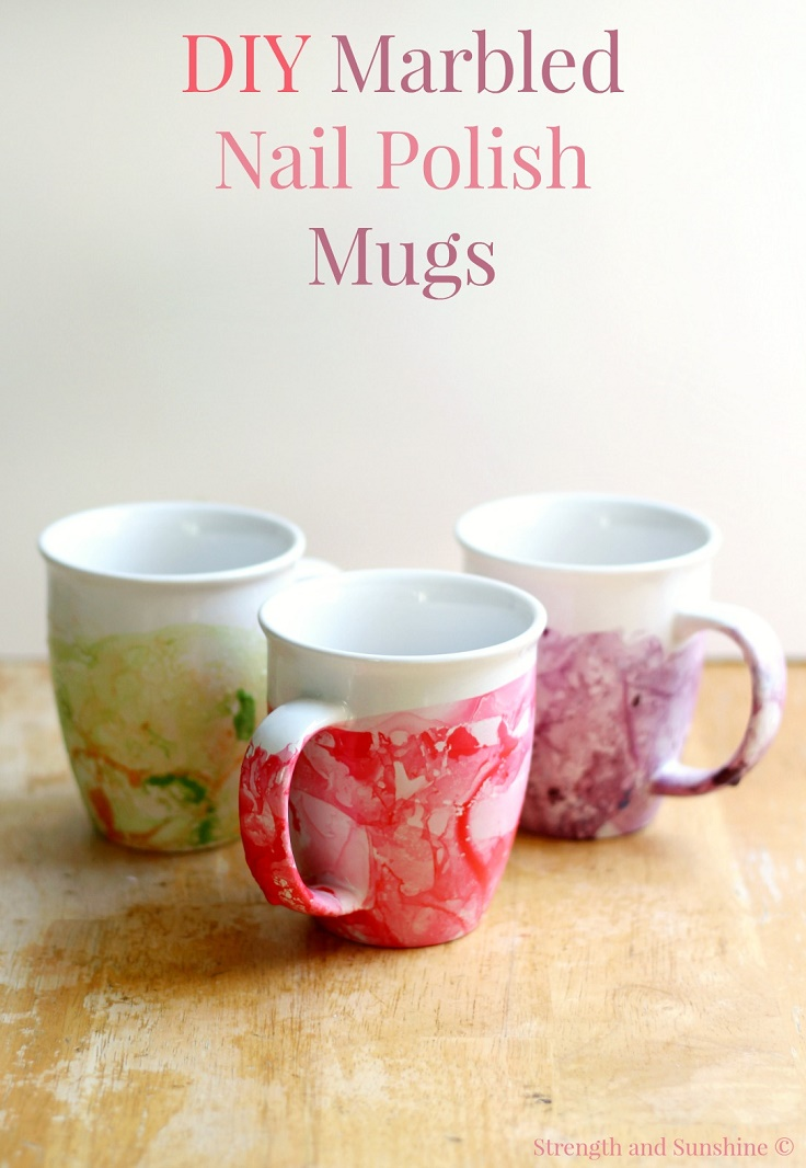 Top 10 diy creative and easy mug designs top inspired marbled nail polish mug top 10 diy creative and easy mug designs solutioingenieria Images