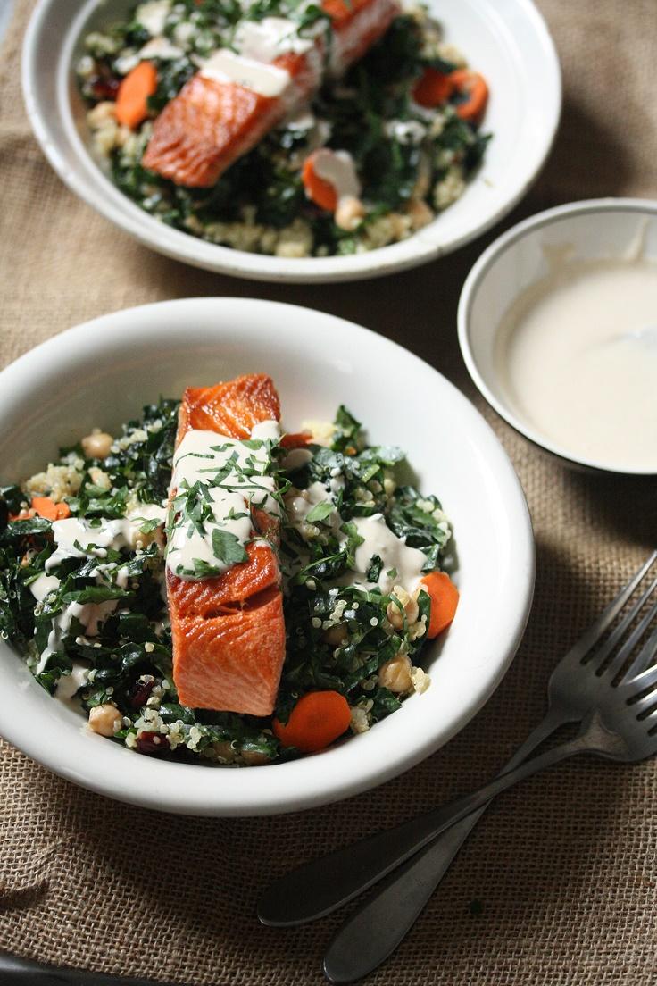 Salmon-Kale-and-Quinoa-Bowl