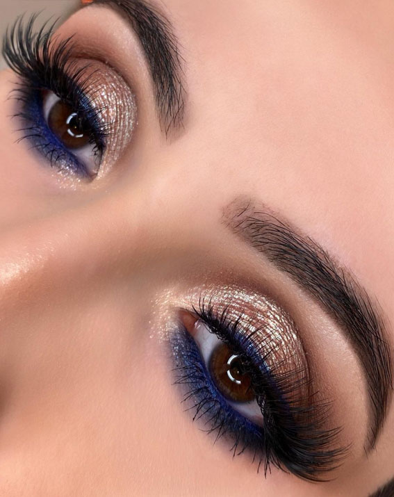 gold-and-blue-shimmery-makup-