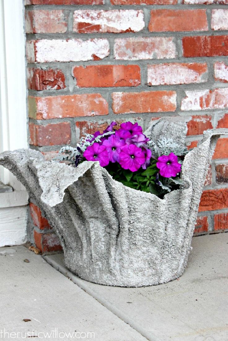 Как сделать вазоны для цветов своими руками 33