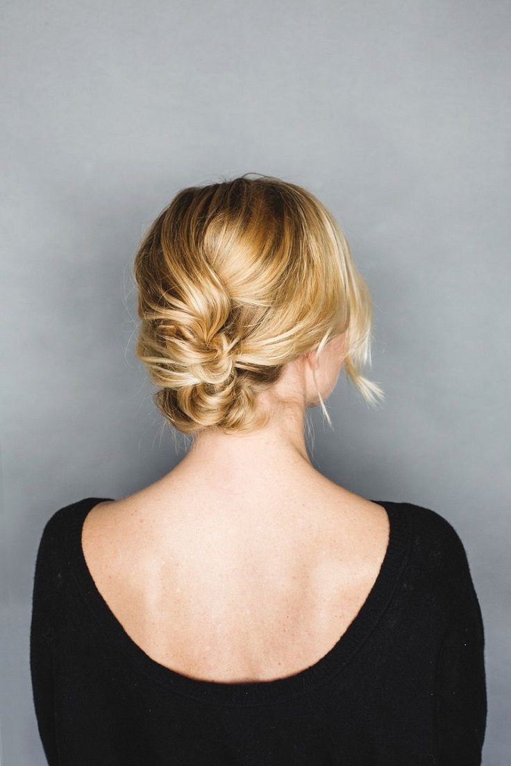 Easy Updo For Short Hair How To : Top adorable updo hairstyles for every hair length inspired