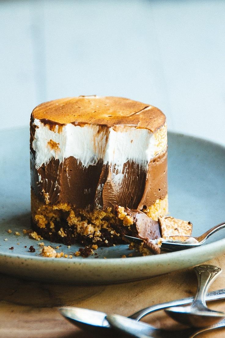 Smores-Custard-Cake