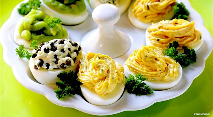 Deviled-Eggs-with-Various-Fillings