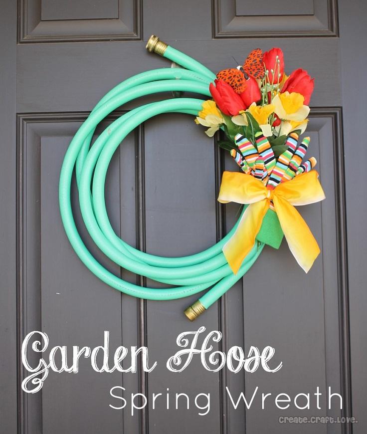Garden-Hose-Spring-Wreath