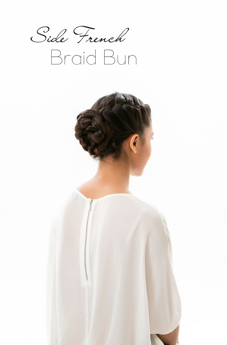 Side-French-Braid-Bun-Hair